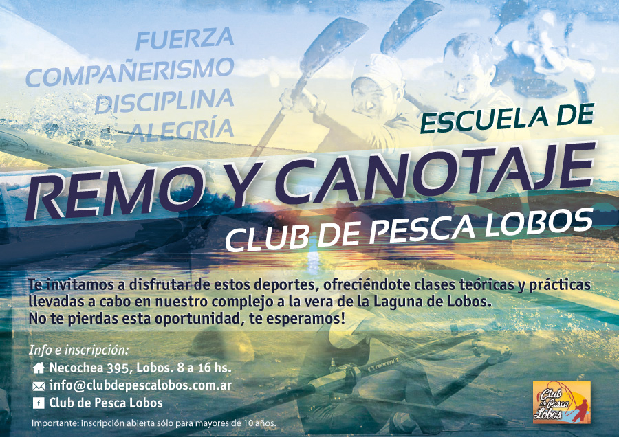 Escuela Remo Club Pesca Lobos Flyer
